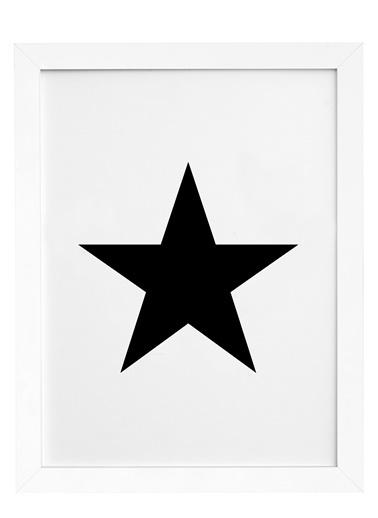 Nordbagen Black Star Poster Beyaz